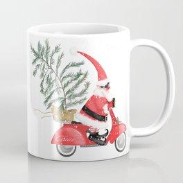 Elfin Santa Claus on his vintage Vespa Coffee Mug