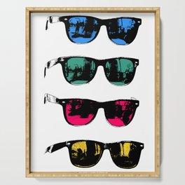 Cool Sunglasses Photo Illustration Venice California Serving Tray