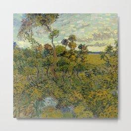 Fun Neck Gaiter Vincent Van Gogh Sunset at Montmajour Neck Gator Metal Print