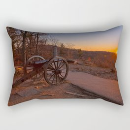 Gettysburg Sunset Cannon Rectangular Pillow