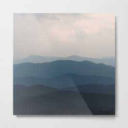 Watercolor Landscape, Niwot Ridge 01, Colorado Metal Print