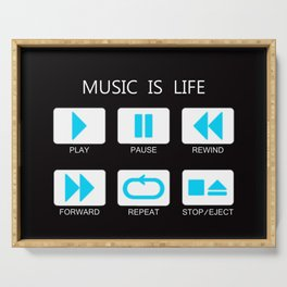 Music Of Button Serving Tray
