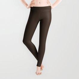 Dark Brown Solid Color Pairs w/ Sherwin Williams 2019 / 2020 Trending Color Dark Clove SW 9183 Leggings
