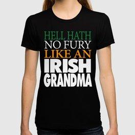 Funny Irish Grandma Gift Hell hath no fury. T-shirt