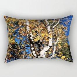 Aspen Forest Autumn Leaves Scene Grand Canyon North Rim Rectangular Pillow