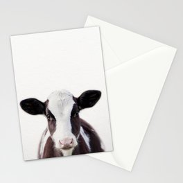 Baby Cow, Baby Animals Art Print By Synplus Stationery Cards