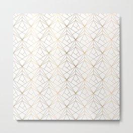 Gold pattern Metal Print