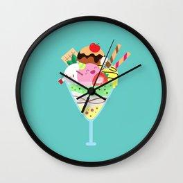 Fancy Ice Cream Celebration Wall Clock