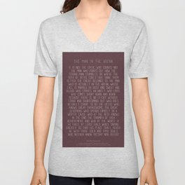 The Man In The Arena by Theodore Roosevelt 3 #minimalism Unisex V-Neck