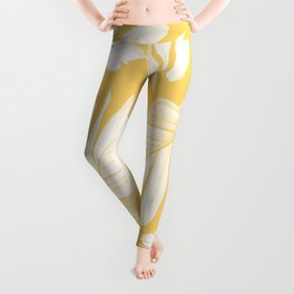 Yellow Banana Leaves Dream #1 #tropical #decor #art #society6 Leggings