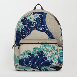 Great Wave Off Kanagawa - Vintage Japanese Artwork Backpack