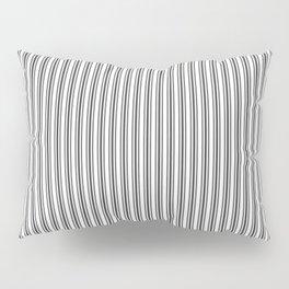 Classic Small Black Tarp Black French Mattress Ticking Double Stripes Pillow Sham