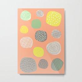 Abstract Multi-colored Circles Metal Print