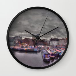 Gas Street Basin - the Canal House at dusk Wall Clock