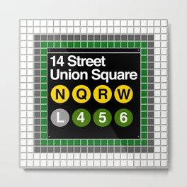 subway union square sign Metal Print