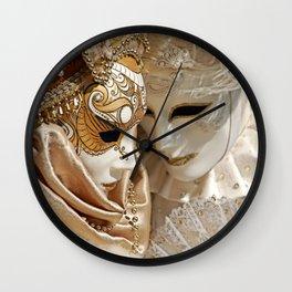 Behind the mask Wall Clock