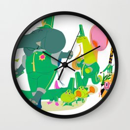 LE ROI PETIT POIS  by Emmanuel Briand Wall Clock