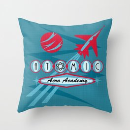 Atomic Aero Academy Throw Pillow
