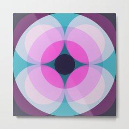 Arubianus - Colorful Decorative Abstract Art Pattern Metal Print