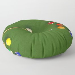Pool Table Floor Pillow