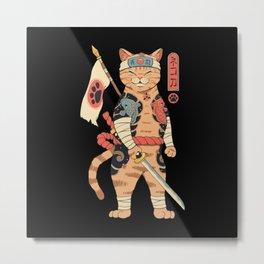Neko Shogun Metal Print