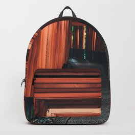CANDLE LANTERN HANGED ON ORANGE TUNNEL Backpack