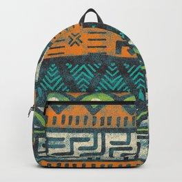 Grunge african pattern Backpack