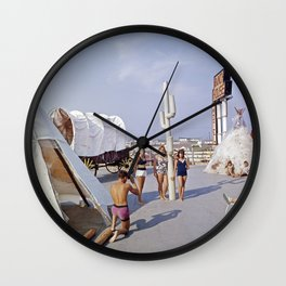 Ranch House Motel in the 1960's. North Wildwood, New Jersey Wall Clock
