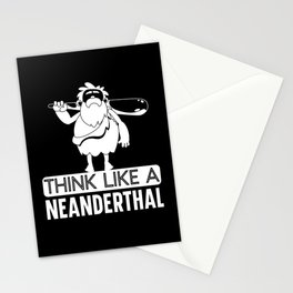 Think Like A Neanderthal Thinking Caveman American Stationery Cards