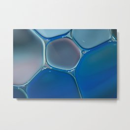 Blue Oil Metal Print