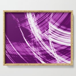 Reflective fibers of metallic pink stripes with bright glow elements. Serving Tray