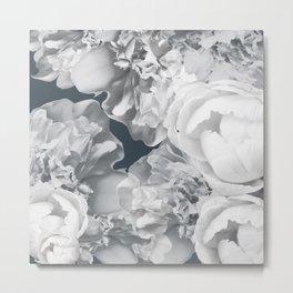 Elegant Peony Bouquet Gray Monochrome #decor #society6 #buyart Metal Print