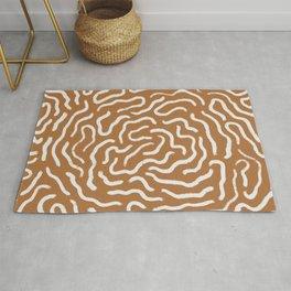 Organic Maze / Terracotta Rug