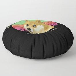 Elon pls post again I invested in dogecoin Floor Pillow