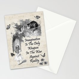 Alice In Wonderland Quote - Imagination Stationery Cards