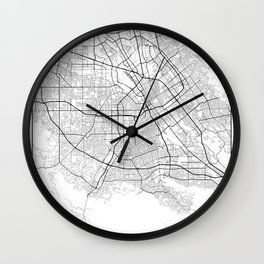 Minimal City Maps - Map Of San Jose, California, United States Wall Clock