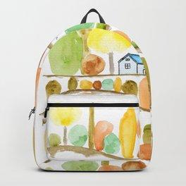 autumn landscape watercolor  Backpack