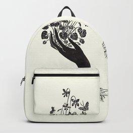 Violet Offering - cream Backpack