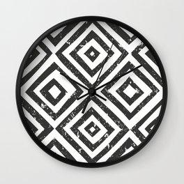 Modern Luxury Black White Pattern Wall Clock