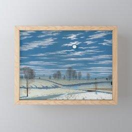 Henry Farrer - Winter Scene in Moonlight - 1869 Framed Mini Art Print