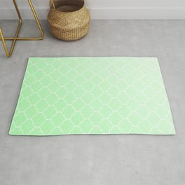 Green Lattice Rug