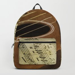 Do a Little Jig; ukulele with sheet music in the background Backpack