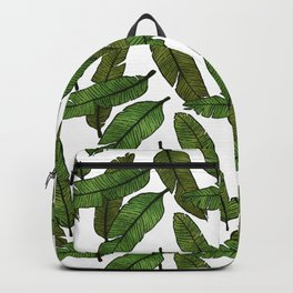 Banana Leaf - White Backpack