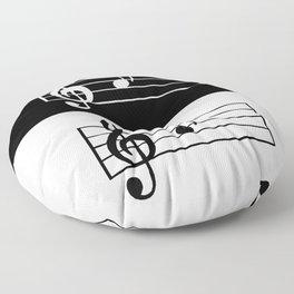 Music Art Floor Pillow