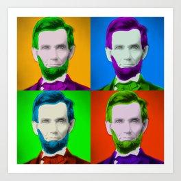 Abraham Lincoln Pop Art Print Art Print