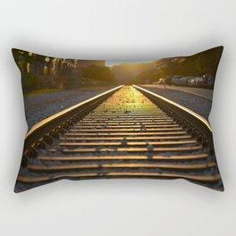 Rainbow Train Tracks - East Austin, Texas Rectangular Pillow