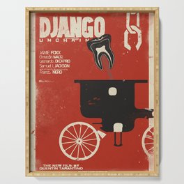 Django Unchained, Quentin Tarantino, alternative movie poster, Leonardo DiCaprio, Jamie Foxx Serving Tray