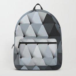 Triangles Slate Blue Gray Backpack