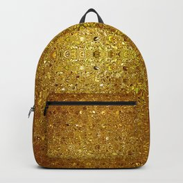 Deep gold glass mosaic Backpack