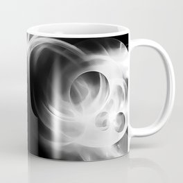 abstract fractals mirrored reacbw Coffee Mug